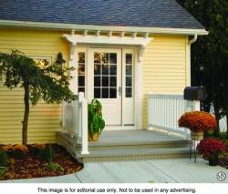 Trellis systems enhance home exteriors editorial service for Fypon pvc trellis system