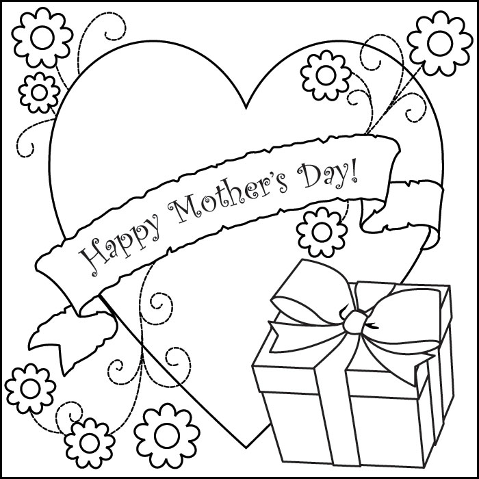 Mothers Day Coloring Page Click Here For Printer Friendly