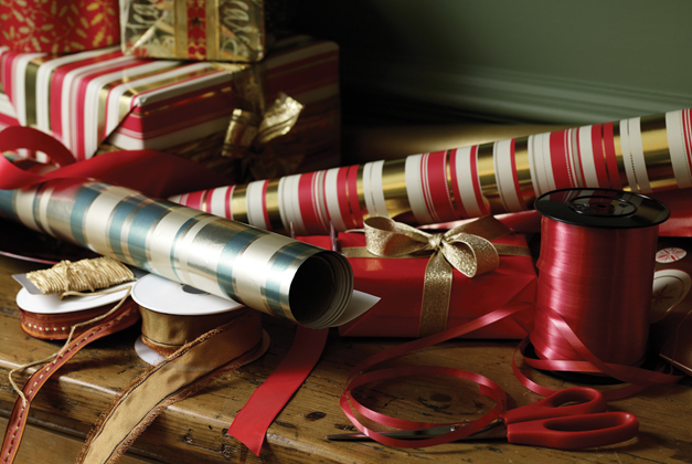 Create Your Own Gift Wrapping Station Holiday Shopping